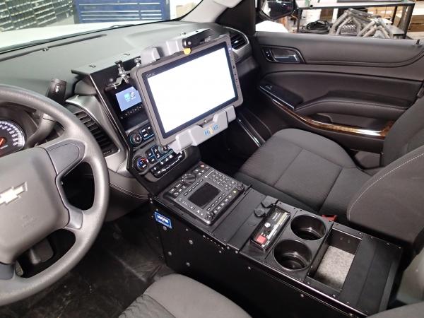 "Suburban Vs Tahoe >> Havis Tahoe Police Vehicle Specific 23"" Console | Mega-Tech"