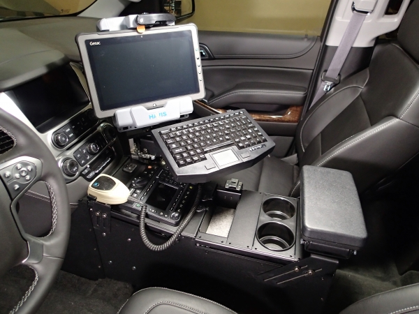 "Suburban Vs Tahoe >> Havis Tahoe Police Vehicle Specific 23"" Console 